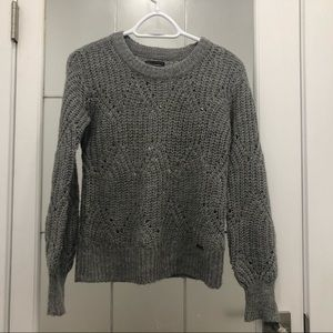 Abercrombie & Fitch Grey Wool Blended Sweater
